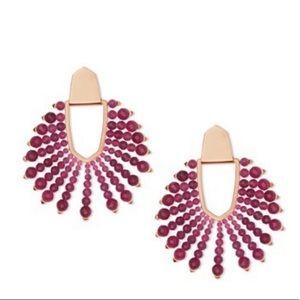 Kendra Scott Diane beaded rose gold earrings